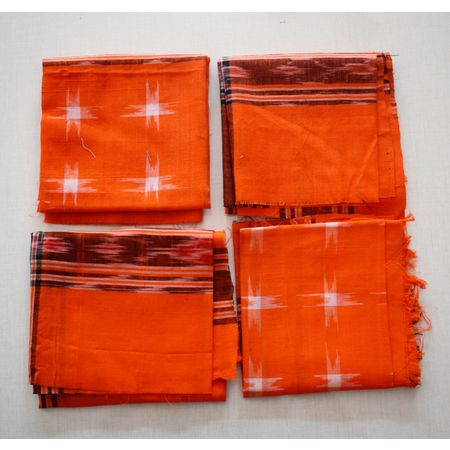 Handloom Cotton Handkerchief of Odisha, Sambalpur AJ001176 (set of - 4)