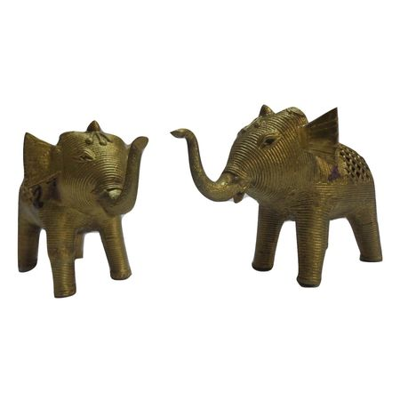OHD002: Traditional Elephant Dhokra art only in India.