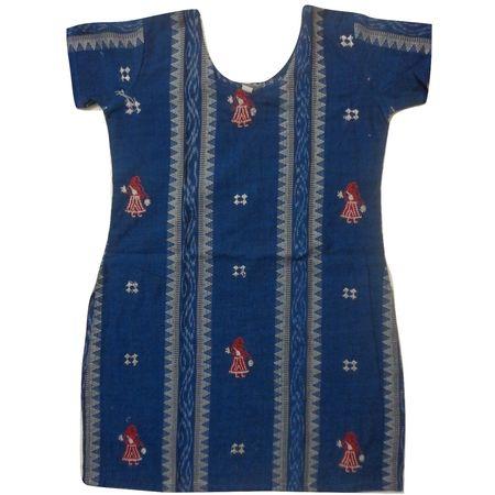OSS8474: Handloom cotton Kurti for girls