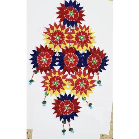 OHA035: Pipli Wall Hanging Star sets.
