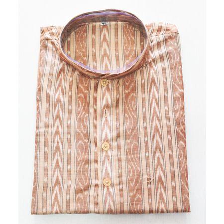 Faded Brown Sambalpuri Handloom cotton Kurta for Men made in Odisha Sambalpur AJ001763