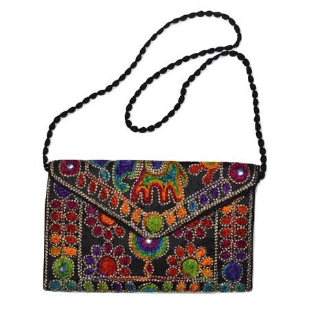 Handmade Fancy Ladies Bag With Mobile Folder AJ001262