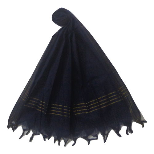 OSSTG017: Handwoven Navy Blue cotton Dupatta