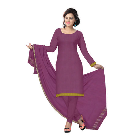 OSSTG6223: Maroon Handwoven Cotton dress material for office wear