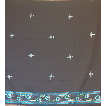 OSS30006: Patachitra design made on dupatta from Jagannath dham, Puri
