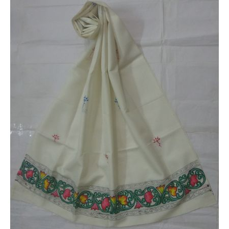 OSS300066: Off White patachira dupatta online shopping.