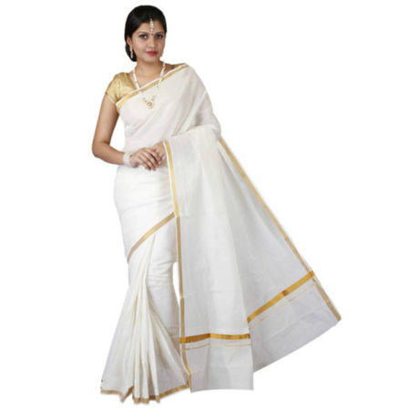 OSSKL001: kasavu cotton sarees from beautiful state Kerala
