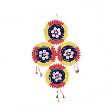 OHA034: Pipli Wall Hanging Star Sets Applique Handicrafts.