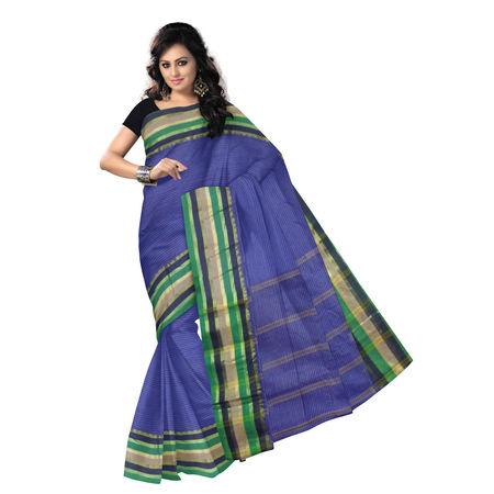 OSSWB9045: Violet color Naksha design Handloom Cotton Saree.
