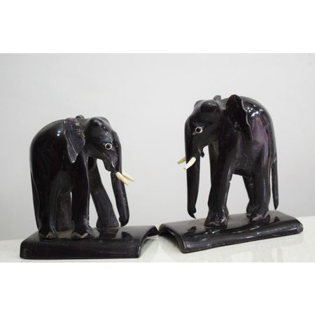 OHH011: Elephant design Horn Crafts.