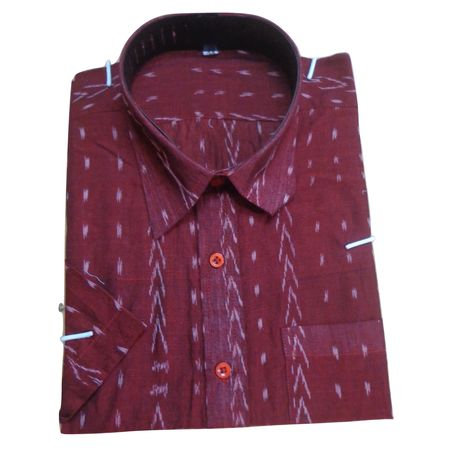 OSS177: Sambalpuri handloom shirt design online best for casual wear, 44