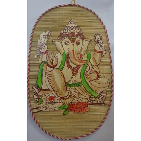 OHB010: GANESHA Wall hanging Bamboo made craft item