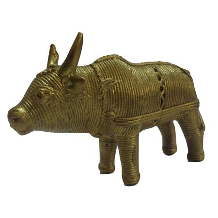 OHD028: Cow Design dhokra to decorate your drawing room.