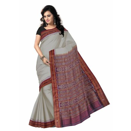 OSS103: Latest design Tusser with Maroon color Indian Silk sari from Orissa