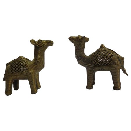 OHD010: Dhokra Camel to decorate your home in living home.