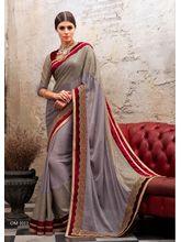 Vardhini Exotique Saree 2 (Grey and Maroon)