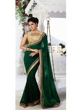 Vardhini Emerald Georgette Saree (Green)