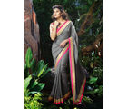 Vardhini Georgette Brasso Saree (Grey)