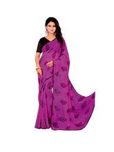 Vardhini Motif Print Saree (Purple)