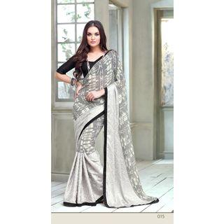 Vardhini Paisley Design Chiffon Saree (Grey)