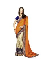 Vardhini Majestic Saree (Orange and Beige)