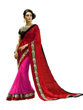 Vardhini Jugalbandi Saree (Red and Pink)