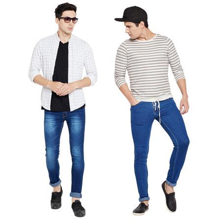 Stylox Men s MultiColor Casual Wear Slim Fit Jeans-DNM-COMBO2-1013-1001, 32