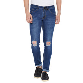 Stylox Men's Premium Stretchable Slim Fit Casual Wear Mid Rise Rough Jeans-DNM-LB-4056, 32