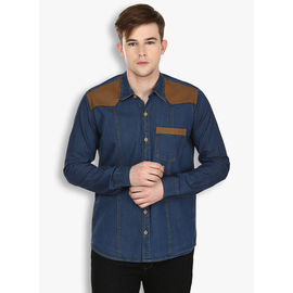 Stylox Men's Denim Blue Casual Shirt(221), 42