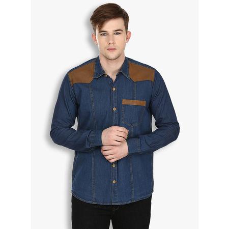Stylox Men s Denim Blue Casual Shirt(221), 42
