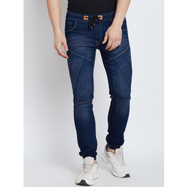Stylox Premium Men's Stretchable Slim Fit Mid Rise Navy Blue Jogger-JGR-NB-9011-01, 36