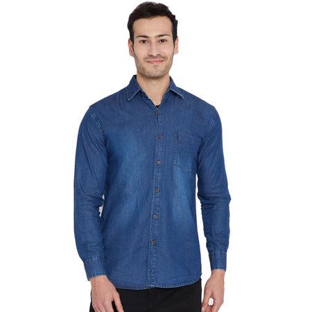 Stylox Men s Denim Dark Blue Casual Shirt-SHT-DB-1066, xl