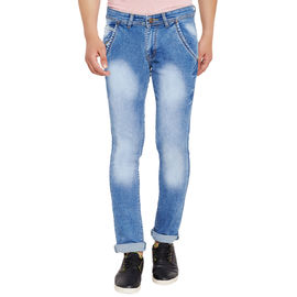 Stylox Men's Premium Stretchable Slim Fit Casual Wear Mid Rise Jeans-DNM-IB-4050, 30