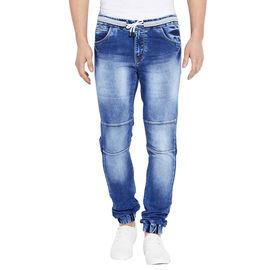 Stylox Men' s Premium Slim Fit Blue Acid Washed Stretchable Jogger-JGR-BLU-9014-02, 28