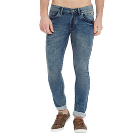 Stylox Men's Premium Stretchable Slim Fit Whisker Washed Jeans-DNM-GRT-4118-03, 30