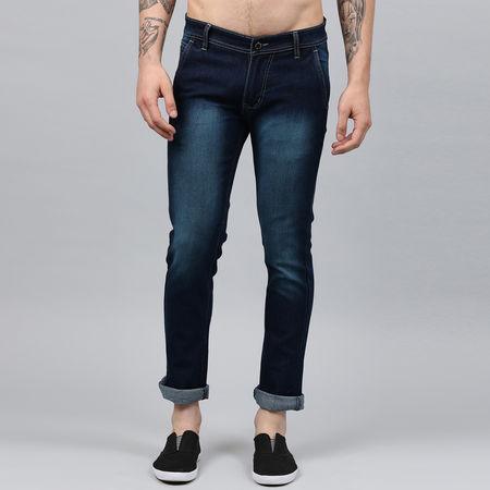 Stylox Men Blue Washed Jeans-DNM-CRSGRN-4143-02, 34