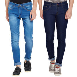 Stylox Men's Stylish Slim Fit MultiColor Casual Wear Jeans-DNM-COMBO2-1012-1002, 30