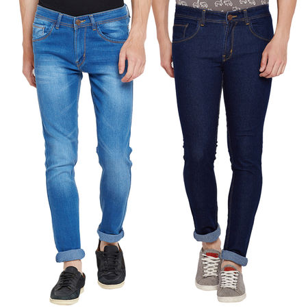 Stylox Men s Stylish Slim Fit MultiColor Casual Wear Jeans-DNM-COMBO2-1012-1002, 30
