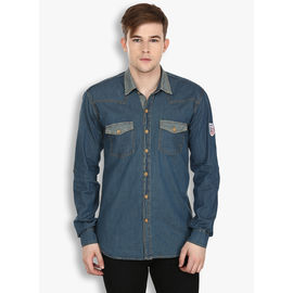 Stylox Men's Denim Blue Casual Shirt(210), 40