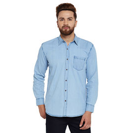 Stylox Men's Denim Ice Blue Casual Shirt-SHT-ICEBL-1061, l