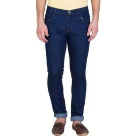 Stylox Slim Fit Men's Dark Blue Jeans(DNM1002), 34