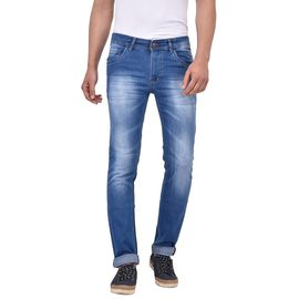 Stylox Men's Slim Fit Dark Blue Jeans-DNM-S-DB-1013, 28