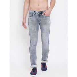Stylox Men Slim Fit Stretchable Black Jeans 5901-1281, 32