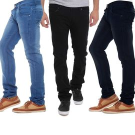 Stylox Stylish Regular Slim Fit Pack Of 3 Cotton Jeans For Men-DNM-COMBO3-NEW-1001-1002-1003, 36