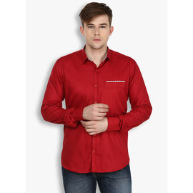 Stylox Maroon Casual fit Cotton Shirt(SHT024), 38