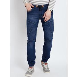 Stylox Premium Men's Stretchable Slim Fit Dark Blue Jogger-JGR-DB-9011-02, 28