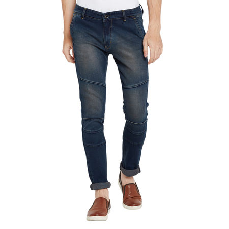 Stylox Men s Premium Stretchable Slim Fit Mid Rise Light Shaded Jeans-DNM-BRNTNT-4067, 32