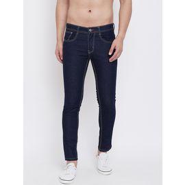 Stylox Men Slim Fit Stretchable Black Jeans 5204-1293, 32
