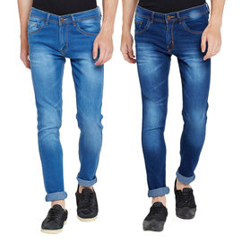 Stylox Men's MultiColor Slim Fit Casual Wear Jeans-DNM-COMBO2-1012-1013, 32