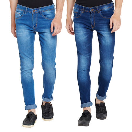 Stylox Men s MultiColor Slim Fit Casual Wear Jeans-DNM-COMBO2-1012-1013, 32